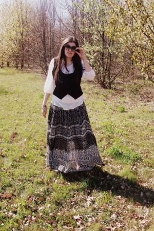 sunglasses - shirt - skirt