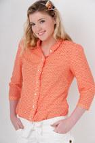 orange banana republic blouse - white Express shorts