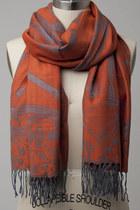 orange scarf scarf