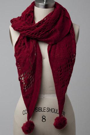 pom pom scarf scarf