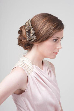 brown hair barrette tricis New York accessories