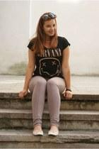 mustard nirvana h&m t-shirt