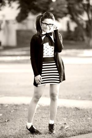 H&M shirt - Forever 21 cardigan - H&M skirt