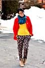 Forever-21-coat-floral-harem-zara-pants