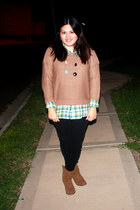 charles albert boots - Rue 21 sweater - Forever 21 shirt