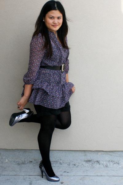 black Forever 21 intimate - deep purple American Rag blouse - black Charlotte Ru