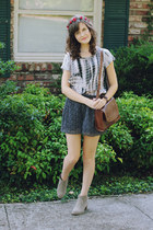 navy tie dye Forever 21 shirt - beige ankle Target boots