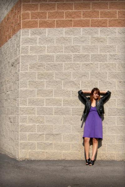 Hot Leathers jacket - American Apparel dress - Nine West shoes