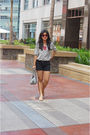 Silver-topshop-top-black-space-shorts-beige-gucci-shoes