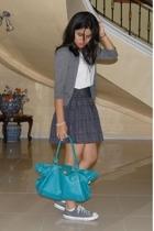 Mango - Hanes shirt - Mango skirt - - Converse shoes