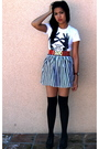 Black-fashion-district-stockings-white-hellz-bellz-shirt-red-forever-21-belt