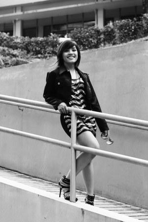 People are People heels - vintage thrifted dress - vintage jacket