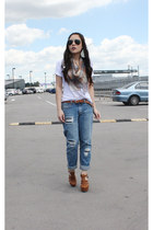 Glassons jeans - Urban Outfitters wedges