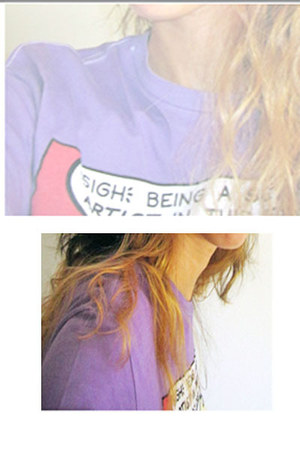 violet pull&bear t-shirt