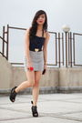 Blue-zara-top-silver-zara-skirt-black-the-ramp-shoes-black-zara-belt-bla