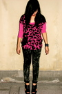 Pink-mango-blouse-gray-babo-pants-black-ecko-accessories-black-the-ramp-sh