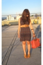 Topshop dress - Tomato belt - Long Champ purse - Charms and Crystals bracelet -