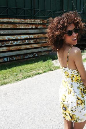 yellow f21 dress