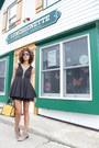Beige-joie-boots-black-material-girl-dress-mustard-r-em-bag