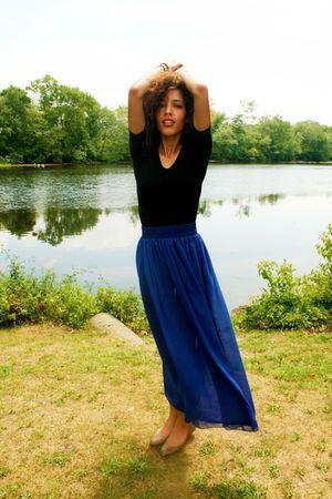 black American Apparel top - blue American Apparel skirt