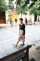 black American Apparelrel sweater - pink vintage skirt skirt