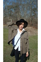 brown Celine jacket - white  shirt - blue promode cardigan - black American Appa