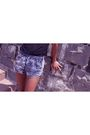 Black-american-apparel-top-blue-american-apparel-shorts