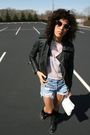 Black-f21-jacket-white-courrege-top-blue-urban-reneal-shorts-black-815-sho