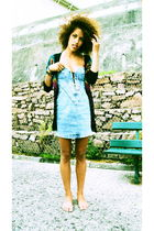 black Insight cardigan - blue Insight dress