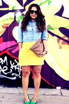 Forever 21 skirt - H&M shoes - American Apparel bag - Old Navy blouse
