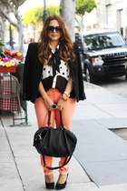Forever 21 pants - Target shoes - Zara blazer - H&M bag - Forever 21 blouse