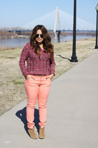 Forever 21 sweater - Aldo boots - Forever 21 jeans