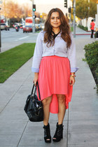 Target skirt - Steve Madden boots - H&M bag - H&M blouse