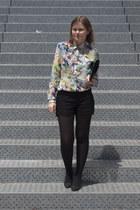 Zara blouse - Zara shorts - Bershka heels
