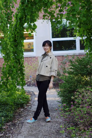 Limited jacket - Guess pants - Keds sneakers - thrifted vintage blouse