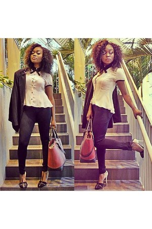 Zara bag - winners pants - forever top - Zara heels