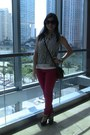 Red-jeans-forever21-jeans-navy-top-forever21-top