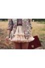 Pink-florals-vintage-blazer-tawny-leather-asos-bag-gold-block-heel-river-isl