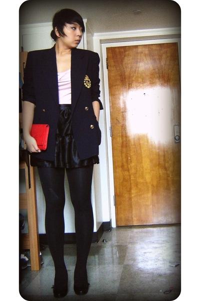 Thrifted Ralph Lauren blazer - forever 21 dress - asos skirt - thrifted purse -