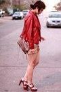 Ruby-red-leather-bagatelle-jacket-gold-sequin-charlotte-russe-skirt