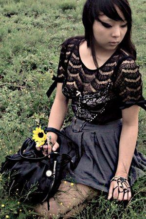 Charlotte Russe blouse - Forever 21 top - Forever 21 skirt