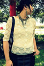 White-charlotte-russe-blouse