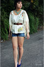 White-forever21-blouse-blue-cutoff-levis-shorts
