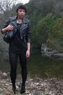 Black-vintage-jacket-f21-dress-uo-tights-leonello-borghi-purse-f21-neckl