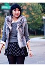 Heather-gray-fred-flare-vest-charcoal-gray-forever-21-sweater-black-forever-