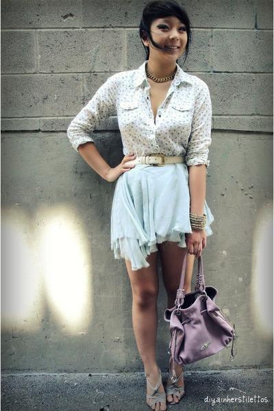 Topshop skirt - f21 shirt