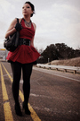 Red-modified-trashy-diva-dress-black-charlotte-russe-belt-black-etsy-gloves-