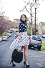 Navy-polka-dots-old-navy-sweater-black-tote-house-of-harlow-bag