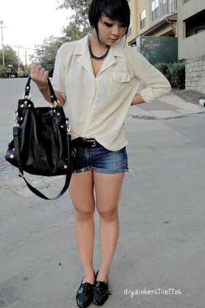 black London Fog bag - free people shoes - white vintage blouse