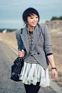 Gray-tweed-vintage-blazer-periwinkle-tutu-asos-skirt-white-striped-forever-2